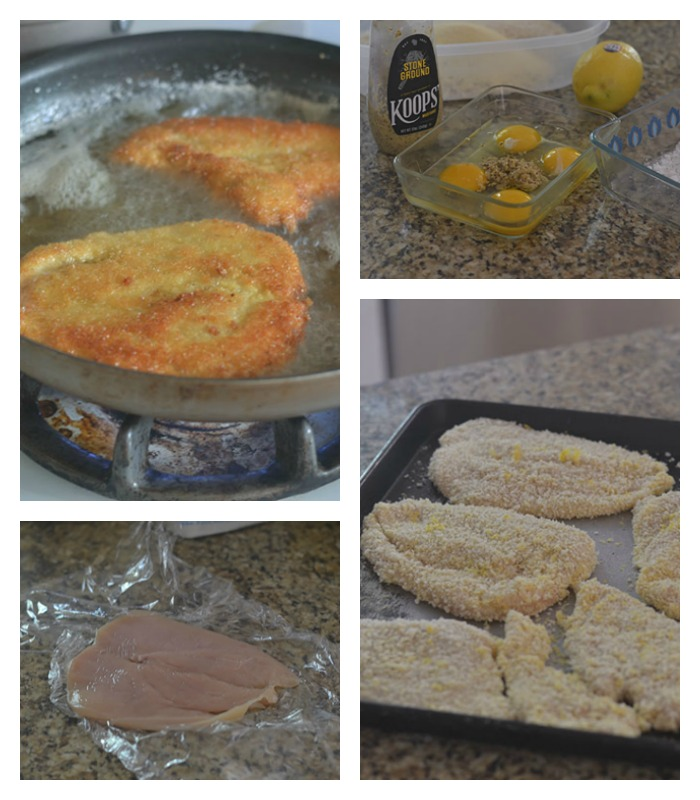 Breading and Pan Frying of the Milanese