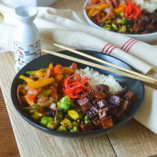 Asian Tofu Bowls l #glutenfree #Asianfood #tofu #vegan | feedyoursoul2.com