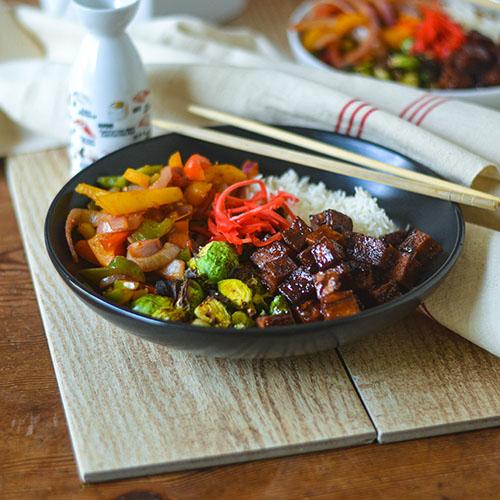 Asian Tofu Bowls l #glutenfree #Asianfood #tofu #vegan   feedyoursoul2.com