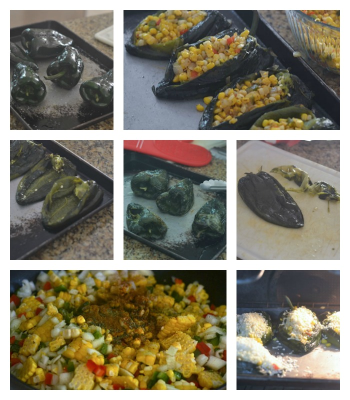 Making and Assembling of the Stuffed Poblanos