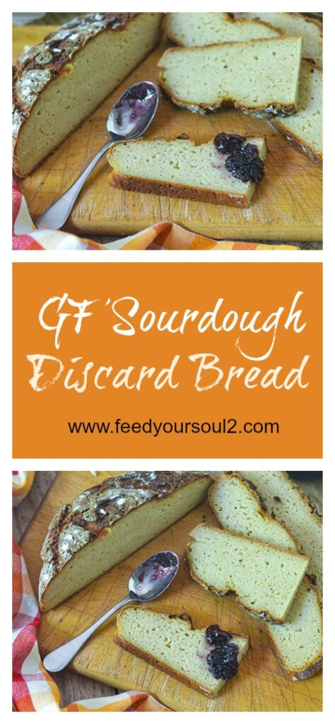 GF Sourdough Discard Bread l #glutenfree #bread #baking | feedyoursoul2.com