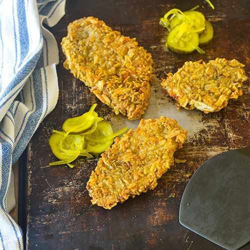 Potato Chip Crusted Chicken l #glutenfree #Italianrecipe #chicken | feedyoursoul2.com