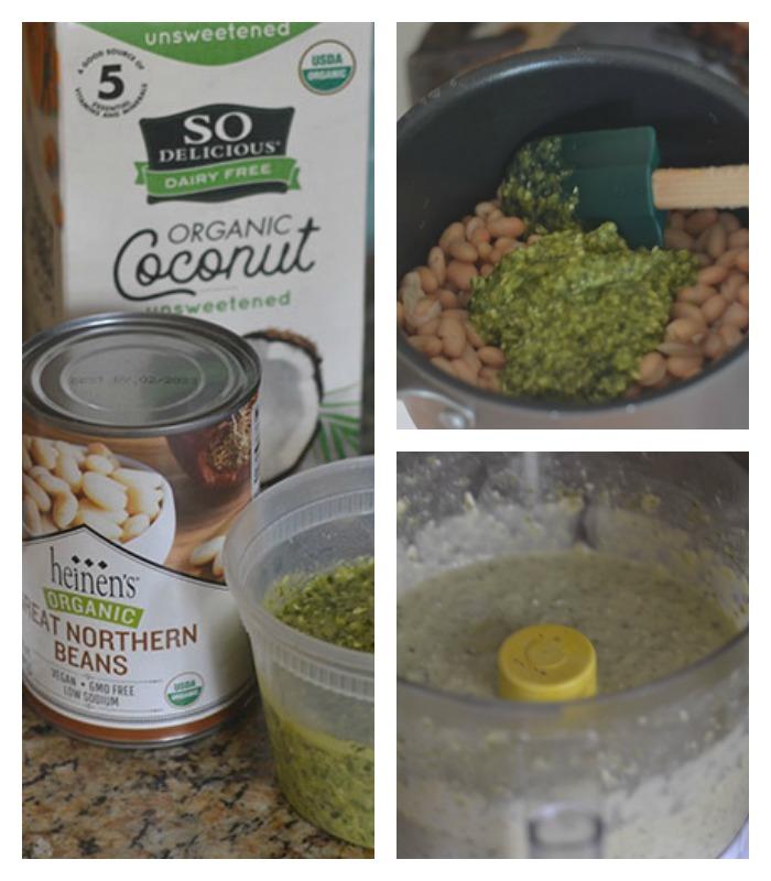 Pesto Bean Ingredients and Base Creation
