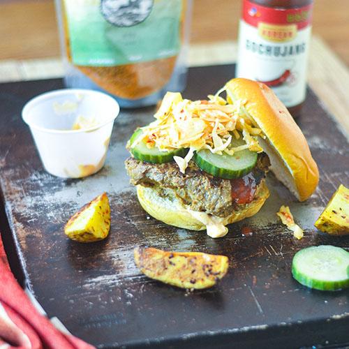 Korean Turkey Burger l #glutenfree #burger #Koreanrecipe | feedyoursoul2.com