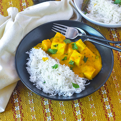 Paneer Curry  l #glutenfree #Indianrecipe #vegan | feedyoursoul2.com