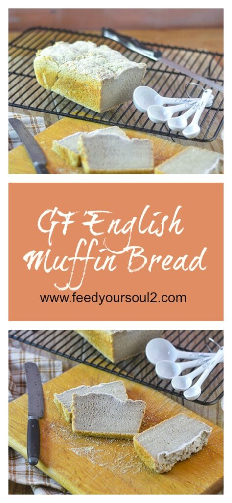 GF English Muffin Bread  l #glutenfree #bread #baking | feedyoursoul2.com