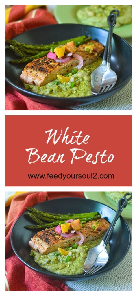 White Bean Pesto l #glutenfree #beans #pesto | feedyoursoul2.com