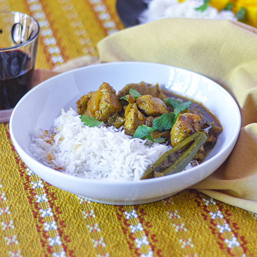 Spicy Chicken Curry l #glutenfree #Indianrecipe #curry | feedyoursoul2.com