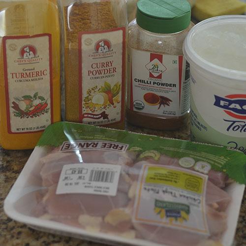 Chicken & Spice Ingredients