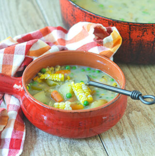 Dairy Free Vegetarian Corn Chowder