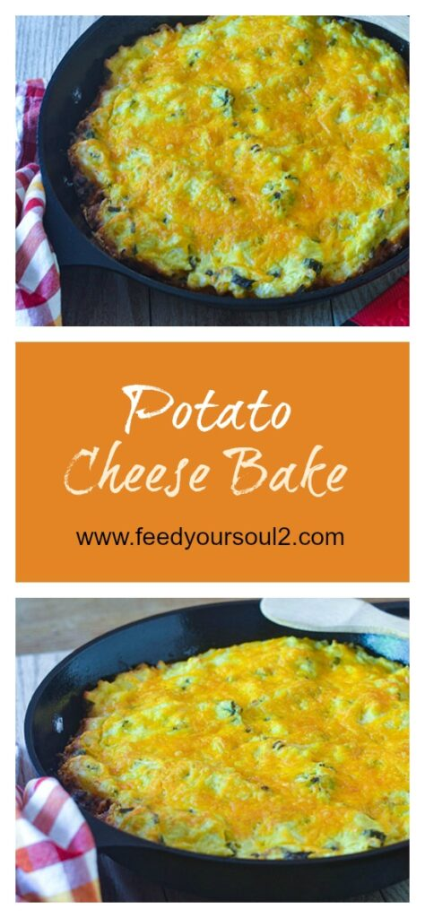 Potato Cheese Bake l #glutenfree #potatoes #cheese #comfortfood | feedyoursoul2.com