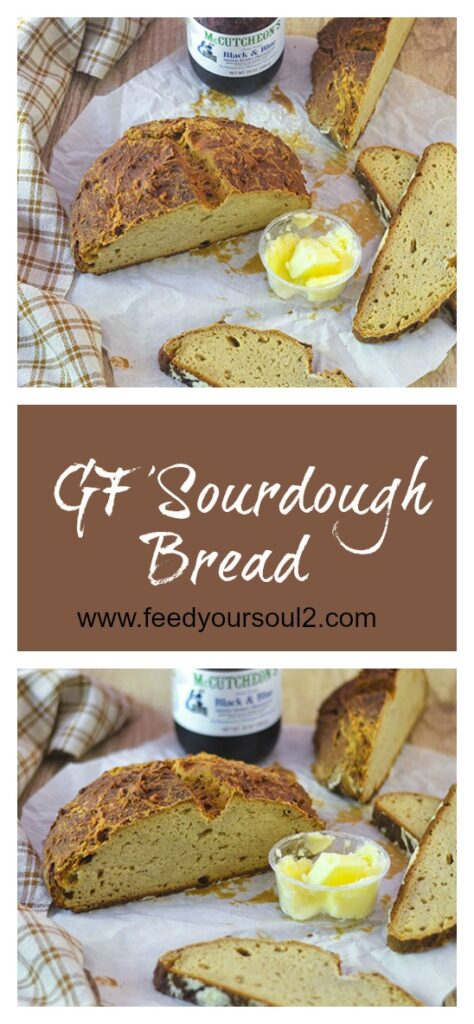 GF Sourdough Bread l #glutenfree #bread #sourdough | feedyoursoul2.com