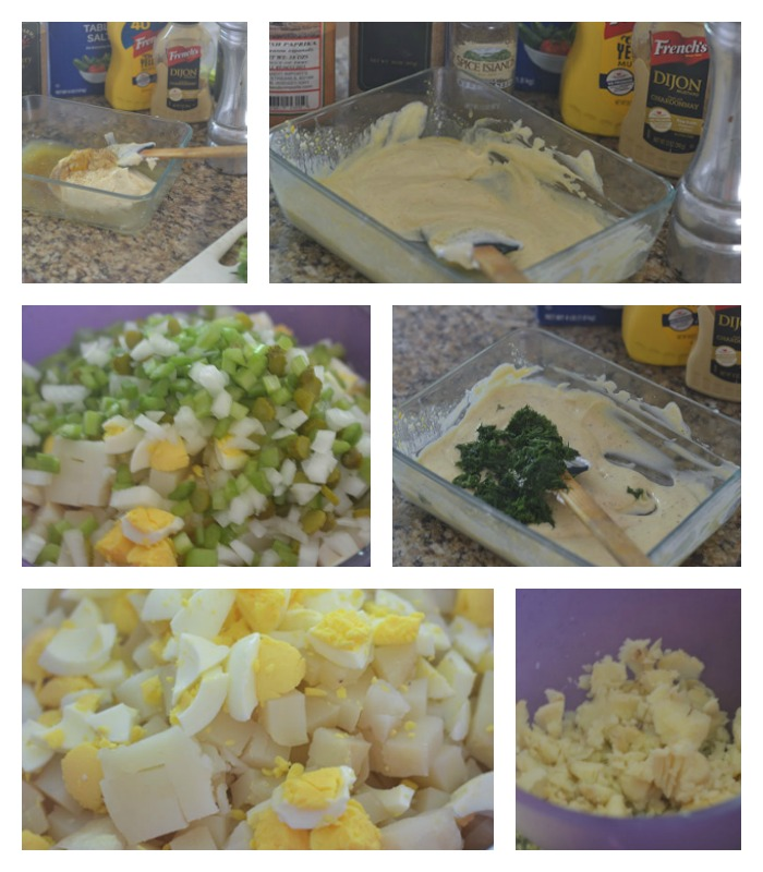 Building of the Potato Salad