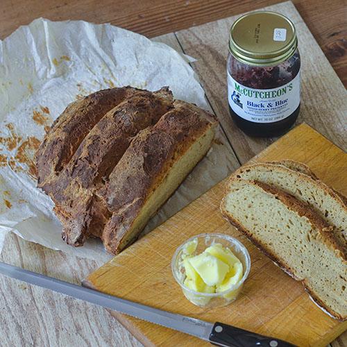 GF Sourdough Ginger Ale Bread l #bread #gingerale #starter #glutenfree | feedyoursoul2.com