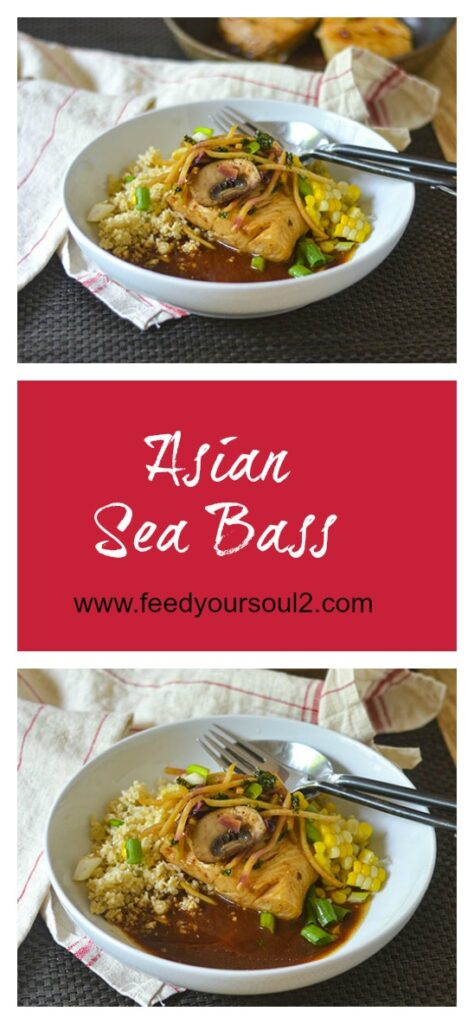 Asian Sea Bass l #fish #Asianrecipe #glutenfree | feedyoursoul2.com