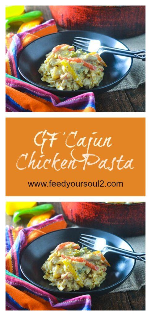 GF Cajun Chicken Pasta l #pasta #Cajunrecipe #glutenfree | feedyoursoul2.com