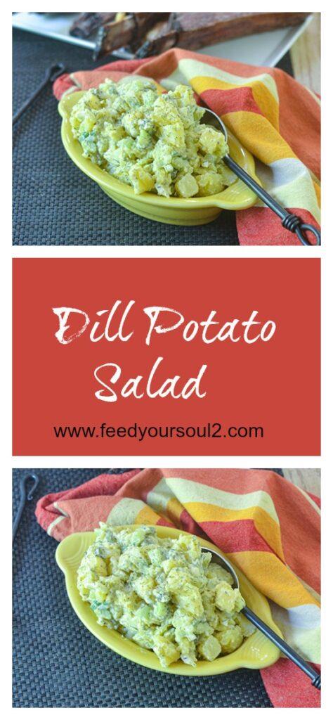 Dill Potato Salad l #potato #salad #dill #glutenfree | feedyoursoul2.com