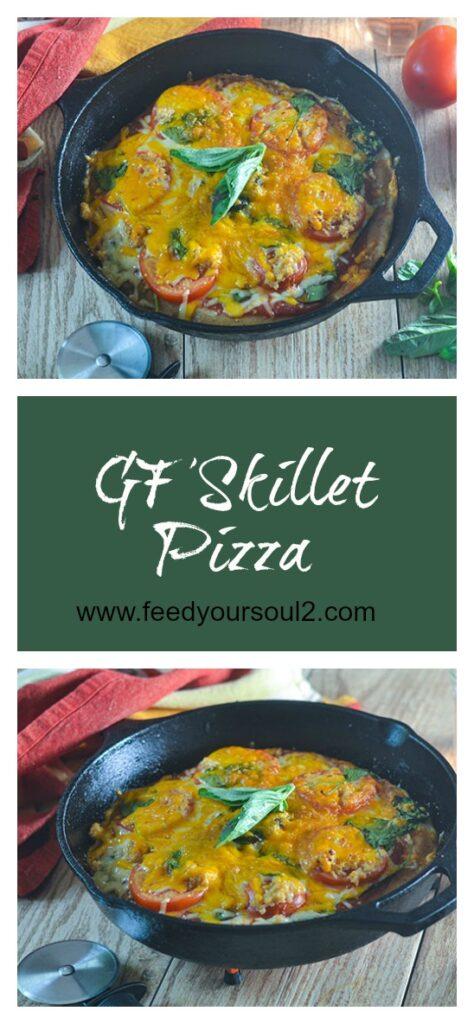 GF Skillet Pizza l #pizza #Italianrecipe #glutenfree   feedyoursoul2.com