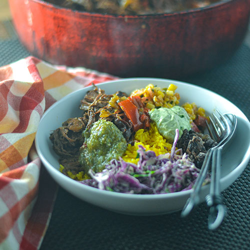 Mexican Pot Roast Bowl l #slowcooker #potroast #Mexicanrecipe #comfortfood | feedyoursoul2.com