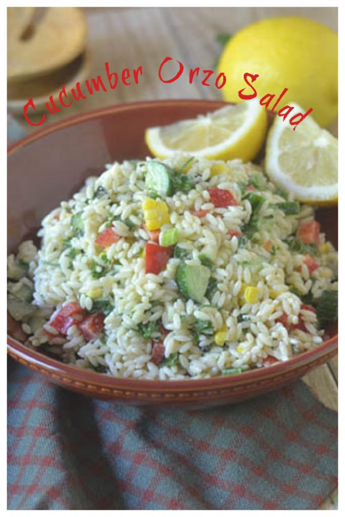 Cucumber Orzo Salad l #cucumbers #salad #veggies | feedyoursoul2.com