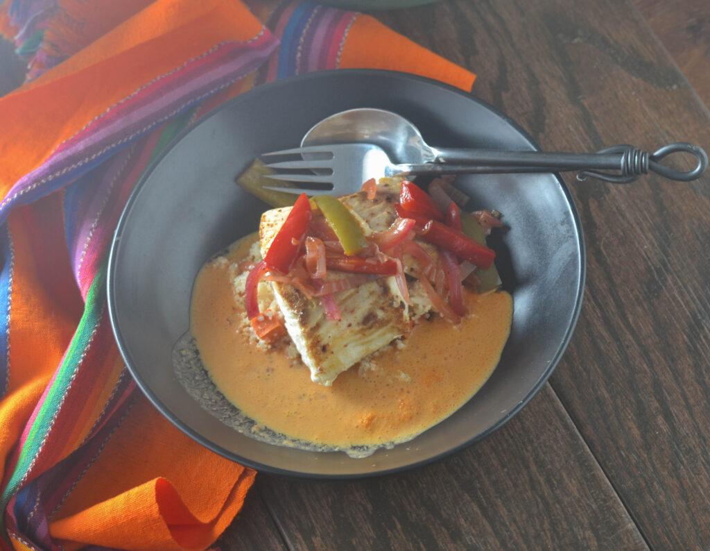 Mexican Cod over Tomato Cream Sauce l #seafood #creamsauce #Mexicanrecipe #coconutmilk   feedyoursoul2.com