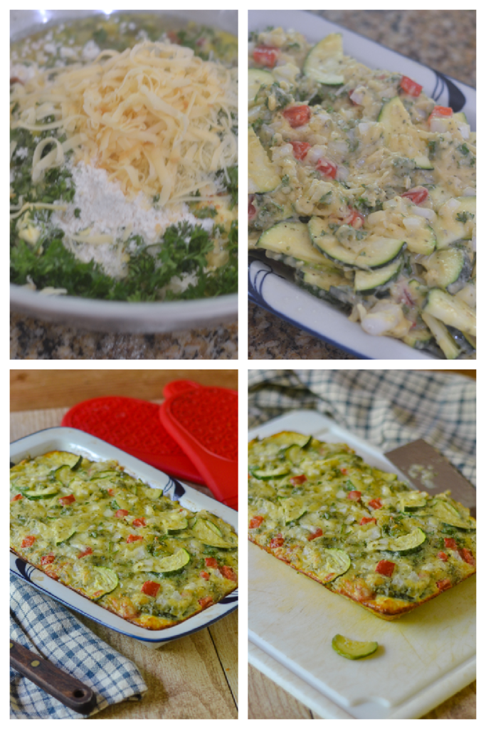 Creating and Assembling the Zucchini Bake