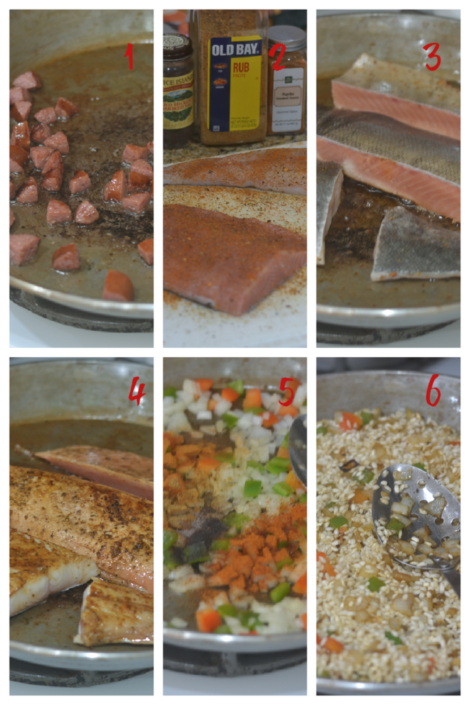 First 6 Steps of the Paella Process