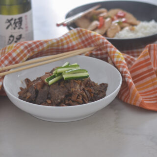 Black Bean Korean Beef