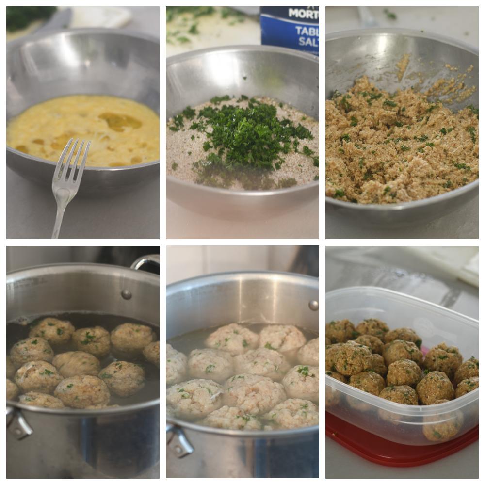 Creating the Matzah Balls