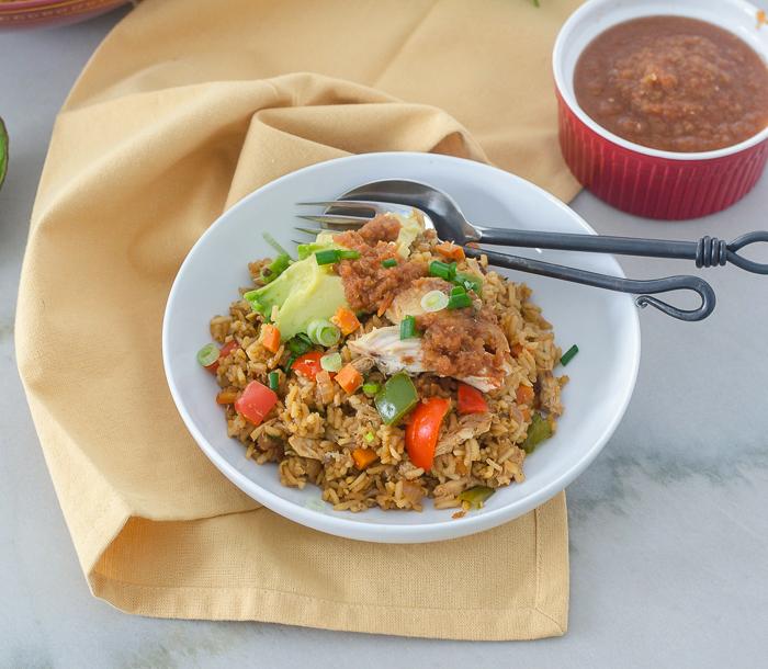 Ecuadorian Chicken Fried Rice l #friedrice #glutenfree #chicken #ecuadorianfood | feedyoursoul2.com