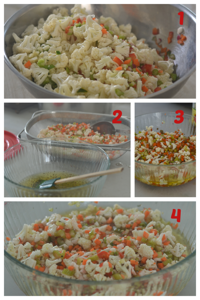 Cutting and Developing of the Giardiniera