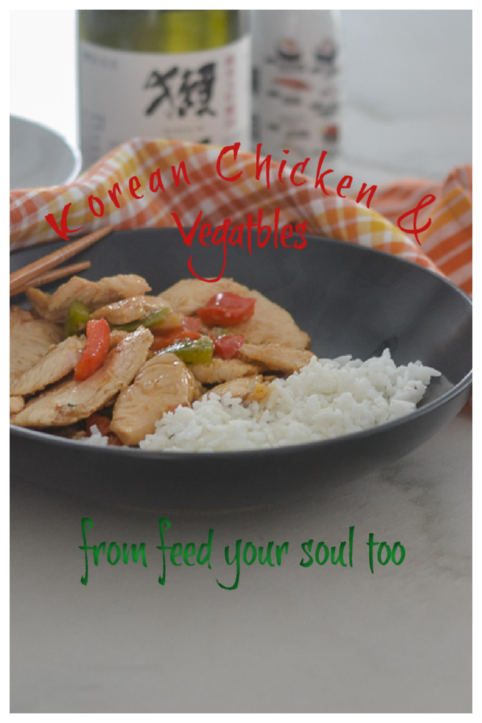 Korean Chicken & Vegetables l #chicken #glutenfree #Koreanrecipe | feedyoursoul2.com
