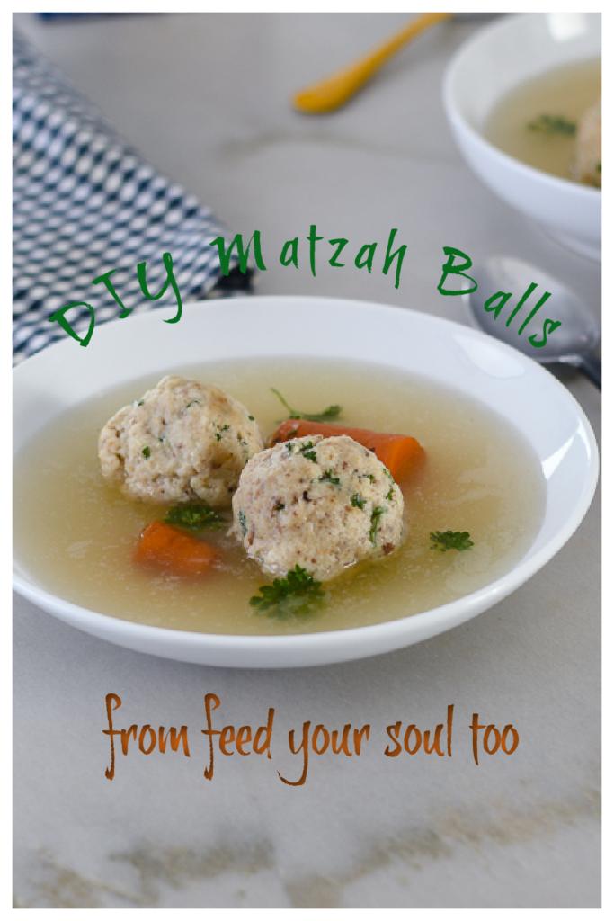 DIY Matzah Balls l #Holiday #DIY #Matzah | feedyoursoul2.com
