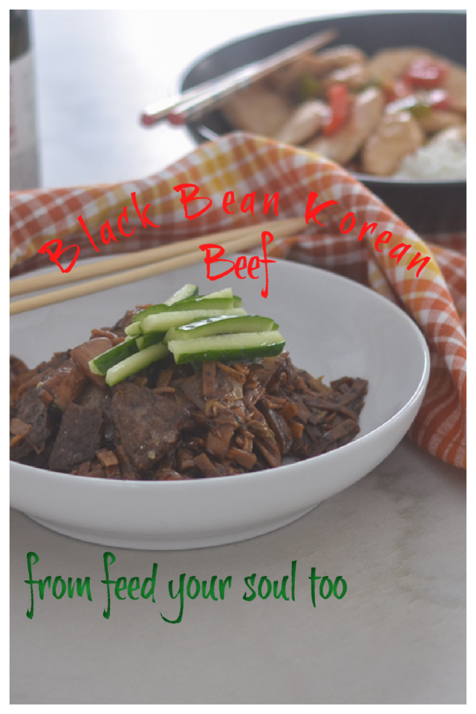 Black Bean Korean Beef l #beef #glutenfree #Koreanrecipe | feedyoursoul2.com