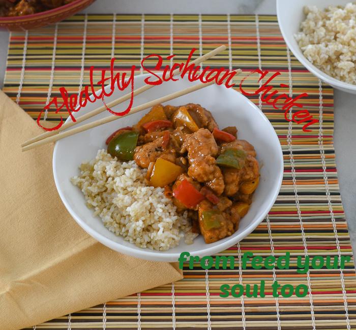 Healthy Sichuan Chicken l #chicken #Chineserecipe #glutenfree  | feedyoursoul2.com