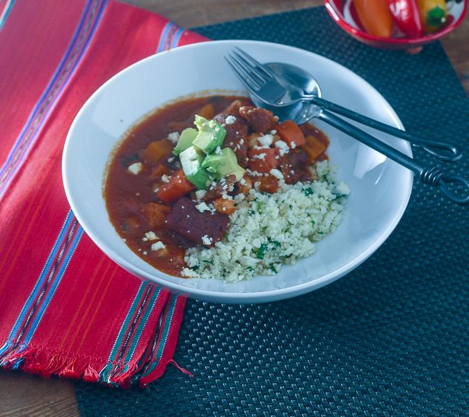 Mexican Chicken Sausage Stew l #stew #glutenfree #smokedchicken  | feedyoursoul2.com