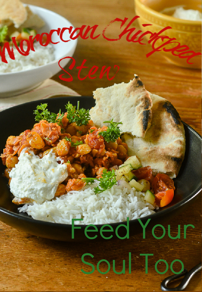 Moroccan Chickpea Stew l #chickpeas #moroccanfood #stew   feedyoursoul2.com