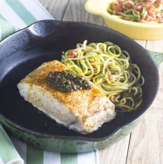 Sun Dried Tomato Pesto Sea Bass