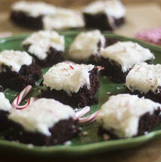 GF Peppermint Frosted Chocolate Cake