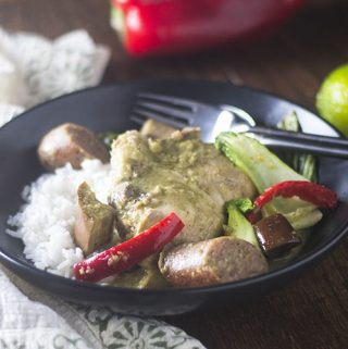 Chicken & Sausage Green Curry Stew