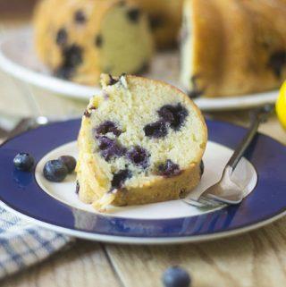 GF Lemon Blueberry Bundt Cake