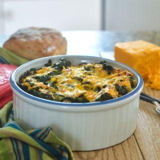 Gluten Free Kale & Cheddar Cheese Strata