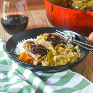 African Chicken & Onions